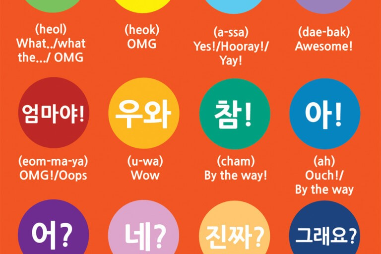 Exclamations in Korean